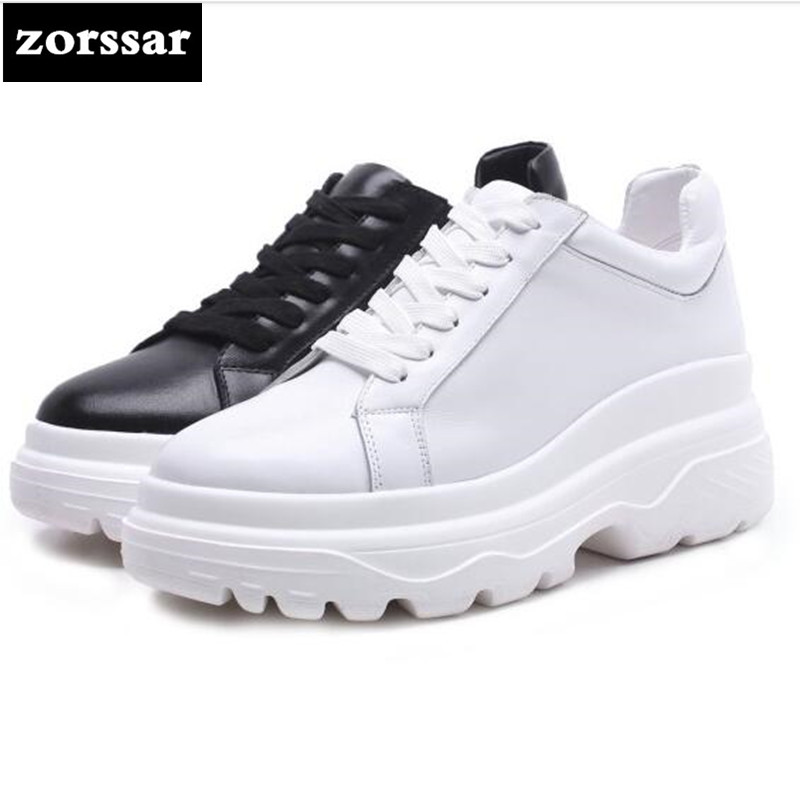 {Zorssar} 2018 Fashion Genuine Leather Flats platform Women shoes Casual flat shoes Female sneakers shoes Student Sport Shoes zorssar brand 2018 new genuine cow leather women sneakers shoes casual flats shoes female platform shoes outdoor walking shoes