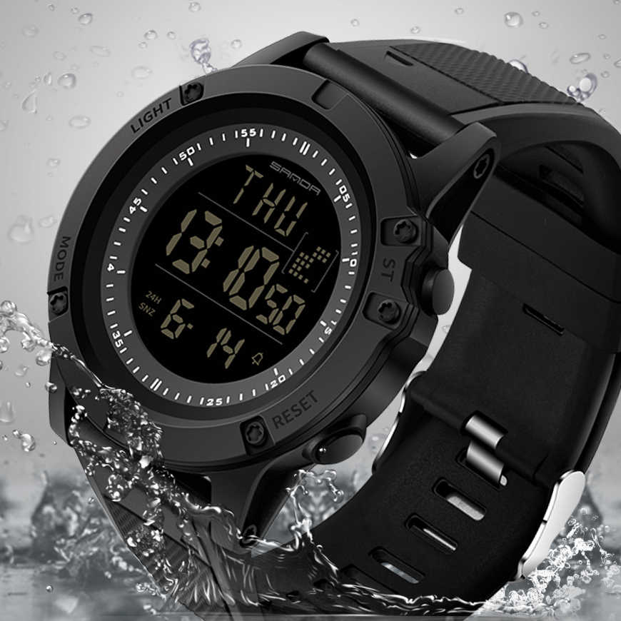 2019 New Sanda Sports Mens Watches 3Bar Waterproof G Style Chronograph Male Clock S Shock Countown Digital Wristwatches Relogio