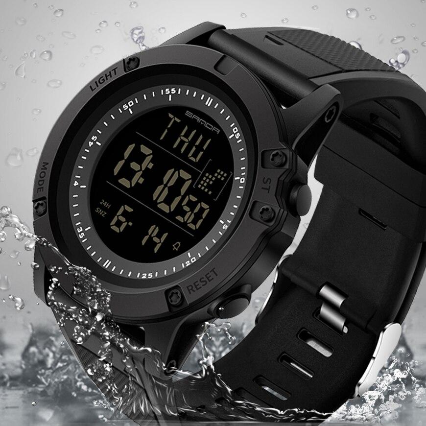 2019 SANDA Sport männer Uhren 3ATM Wasserdichte S Shock Countdown Digitale Uhren Männlichen Uhr Chronograph Relogio Masculino 372