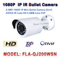 2MP IP Camera 1080P 24pcs Leds HD Network CCTV IP Camera Mini Bullet Free Apps For