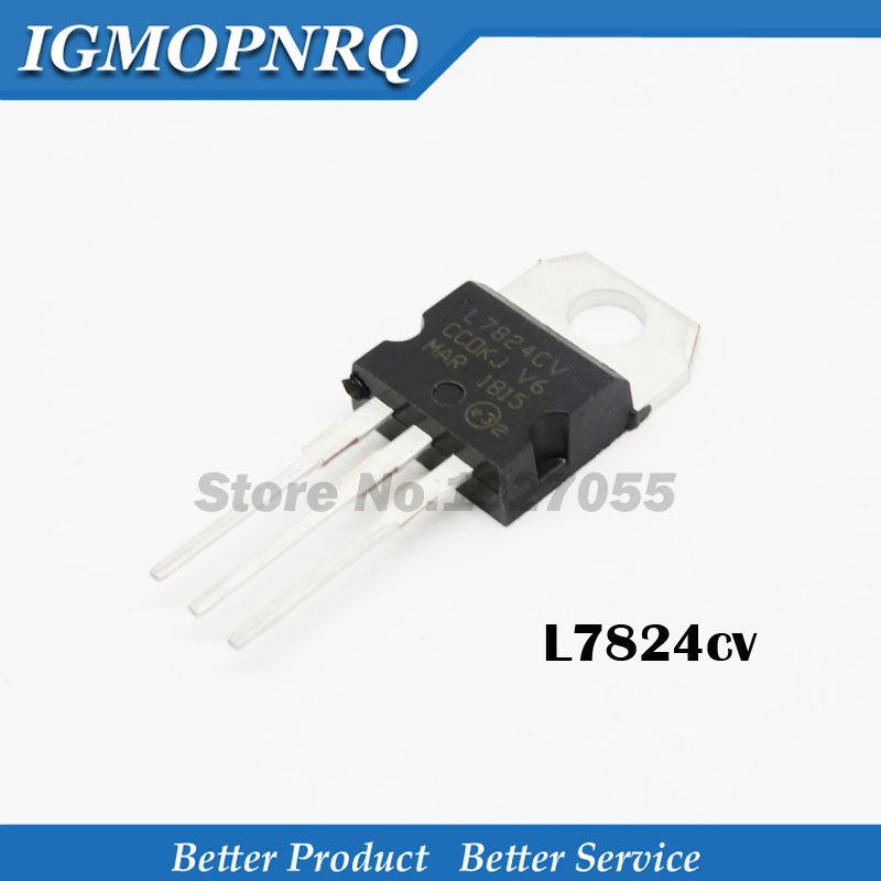 10 pcs L7824 LM7824 7824 Voltage Regulator 24V 1.5A New