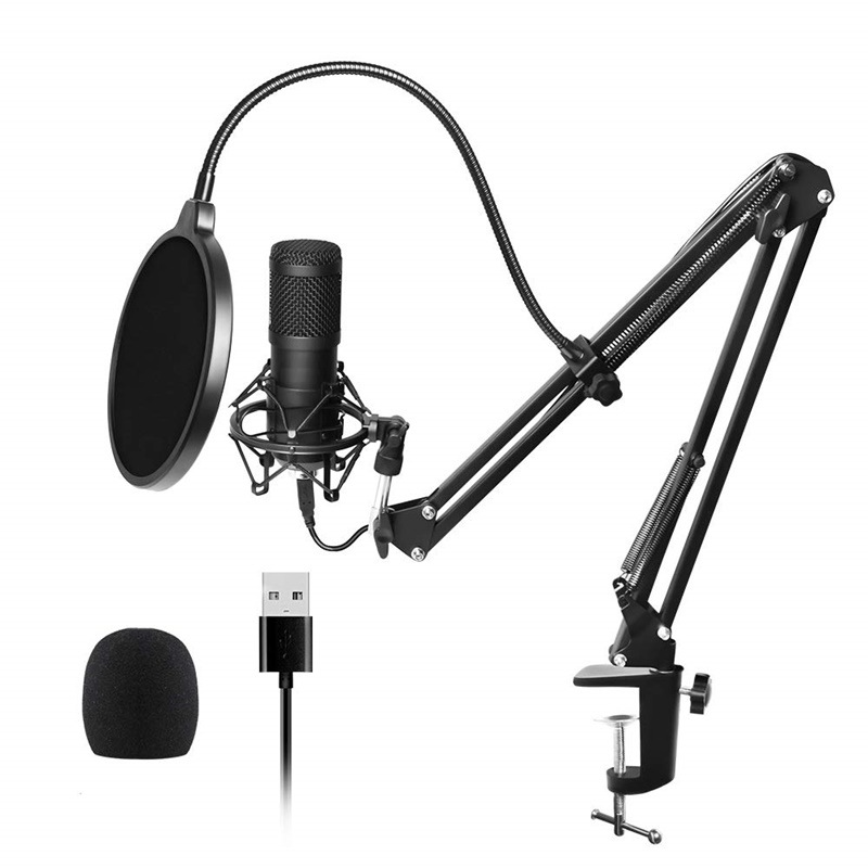 USB Microphone for Mac laptop Computers for Recording Streaming Twitch Voice Overs Podcasting Youtube Skype Karaoke Microphone image