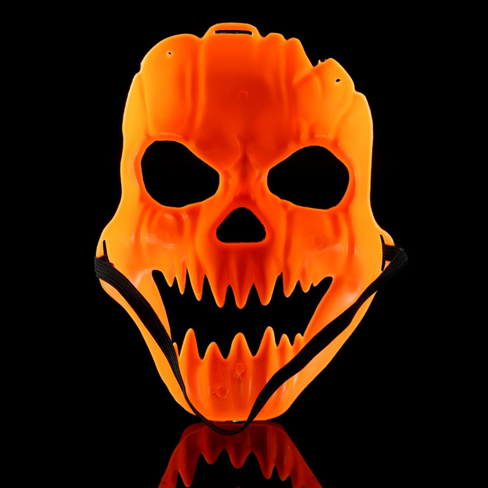 pumpkin full face mask halloween scary creepy costume party decor masquerade evil head masks horrible skull masks dress up - Halloween Scary Faces