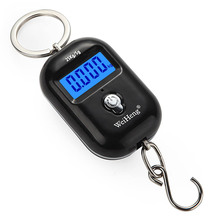 50kg/110lb Digital Electronic Luggage Scale Portable Suitcase Scale Handled Travel Bag Weighting Fish Hook Hanging Scale