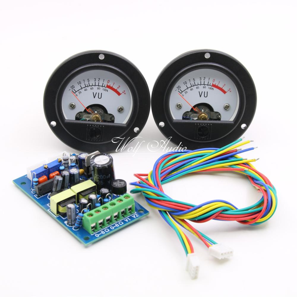 купить One Pair High-end 52mm VU Meter Level Meter dB Power Meter + Driver Board по цене 2587.12 рублей