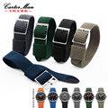 20mm Preto pulseiras de relógio de Alta qualidade pulseira de Nylon Perlon tira para especial marca frete grátis