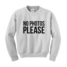 NO PHOTOS PLEASE Slogan Sweatshirt Hipster Fashion Statement-E512 недорого