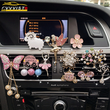 VVVIST Car Air Freshener Cartoon Car Perfume Conditioning Air Outlet Perfume Aromatherapy Fragrance Alloy Auto Good Accessories vehicle aromatherapy air freshener outlet perfume auto accessories air conditioning solid diffuse increase natural fragrance