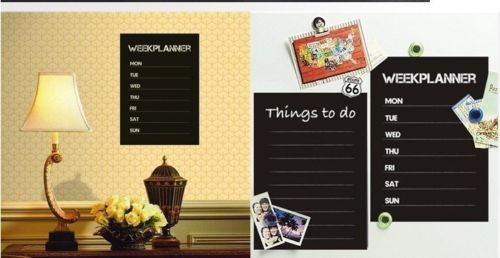 Weekly Planner Calendar Wall Sticker Memo Chalkboard Decal DIY Removable Art Quote