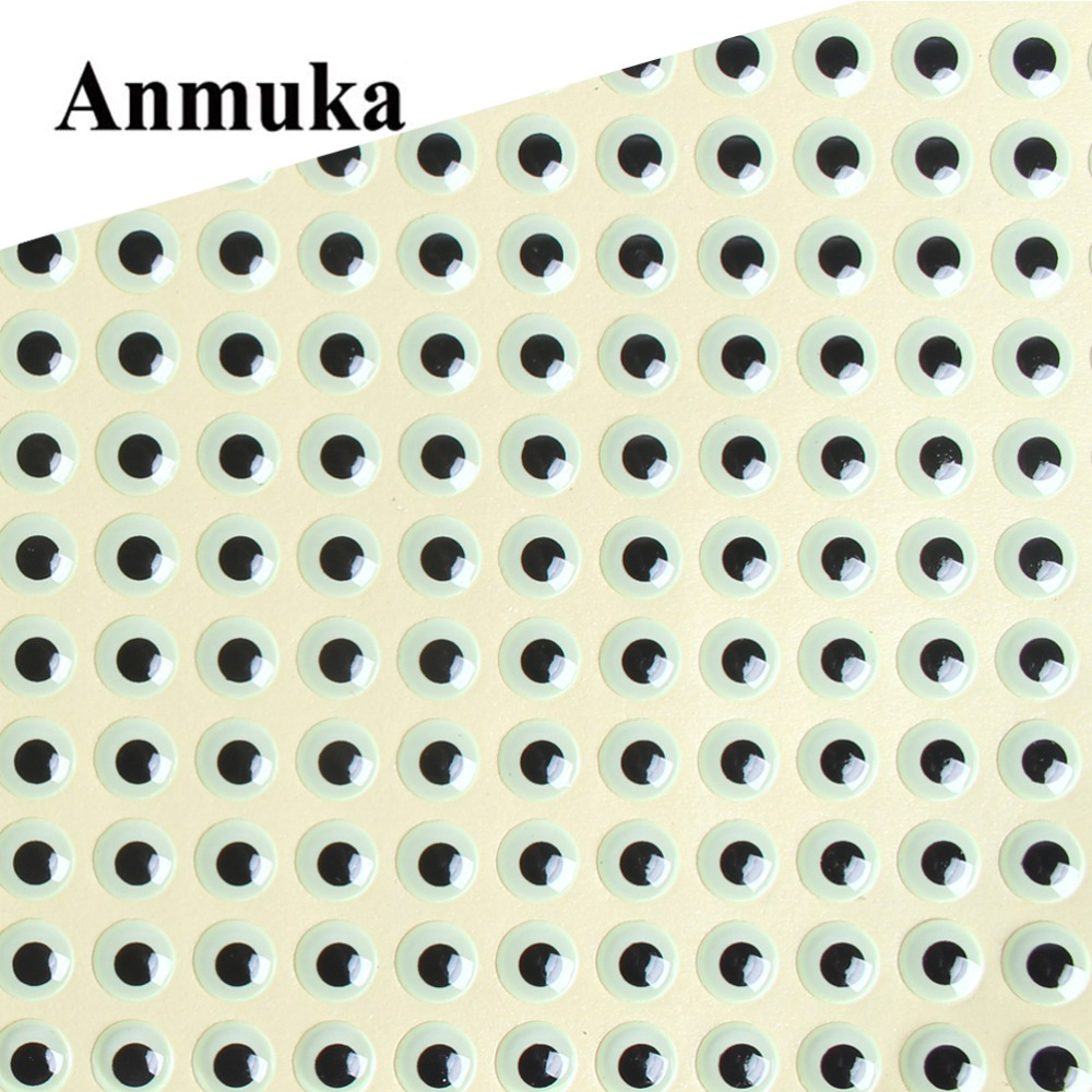 Anmuka 500Pcs/Set 3mm/5mm/7mm 3D Luminous Fishing Lure Eyes Flying Tying Material Jigs Crafts Dolls Glow In Dark for Hooks Baits 100pcs 3 9mm fish eyes 3d holographic lure eyes fly tying jigs crafts dolls toy h055