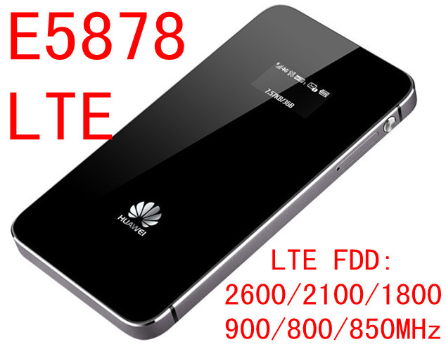 Unlocked Huawei E5878s-32 4g Lte Wifi Router E5878 Lte 3g 4g Router 150m FDD 4g Lte MiFi Mobile Router Wifi 4g Portable Pocket