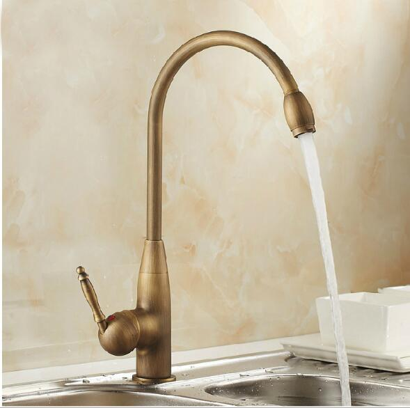 Bronze finished Europe style high quality brass material single lever hot and cold kitchen faucet sink