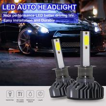 2pcs H1 EV8 60W 8000LM 6500K DOB LED Mini Car Auto Headlight Bulbs Kit Automobile Fog Lamp Hi or Lo Light Bulbs for Cars Vehicle