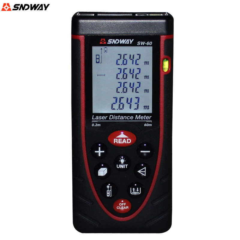 ФОТО SNDWAY SW 60 laser distance meter Laser rangefinders Distance Meter measurement range finder tape measuring instrument