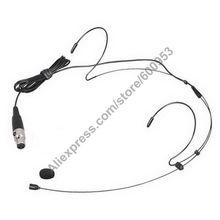 MICWL AK49 Black Headset Headworn Omnidirectional Mic Microphone For AKG Samson Gemini Wireless Body-Pack Transmitter Free Ship