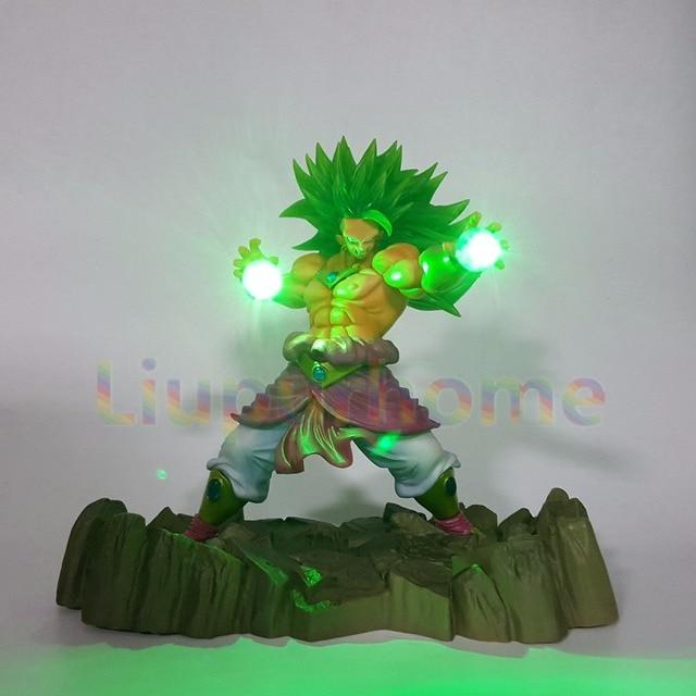 Dragon Ball Z Broly Super Saiyan Led Lighting Lamp Display Anime Dragon Ball Z DBZ Broly Led Light For Christmas Gift