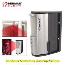 Doberman di Sicurezza del Sensore di Movimento di Sicurezza Domestica di Allarme del Rivelatore del Sensore di Movimento A Infrarossi Campanello di Allarme IR Campanello di Allarme di Benvenuto Campanello