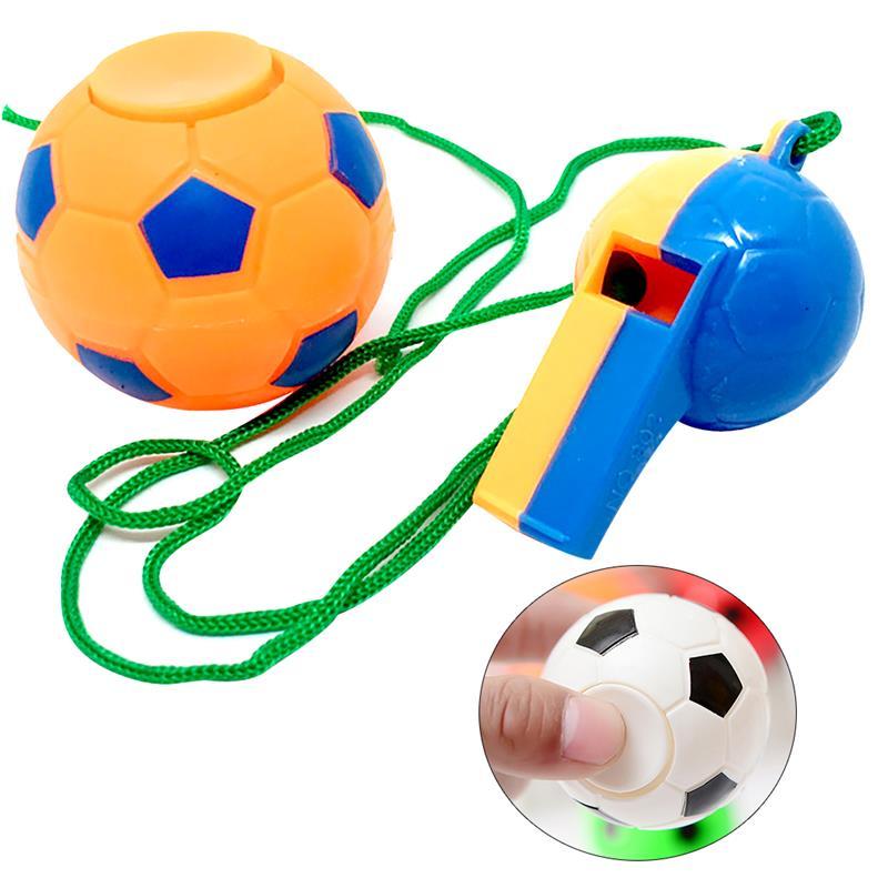 12 шт. мини игрушки Мячи вечерние сувениры футбол дизайн стресса игрушки вечерние подарки с 12 шт. Whistles вечерние подарок для футбола события