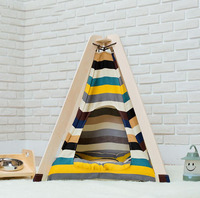 Good quality Pet house Bed Dog Mats Kennel Dog And Cat House Wooden Pet Tents Cute Dog Bed Pet Bed Warm Soft Dogs Kennel MatSE16