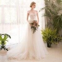 Long Half Sleeve Muslim Lace Wedding Dress High Quality 2017bride Simple Bridal Gown Real Photo Wedding