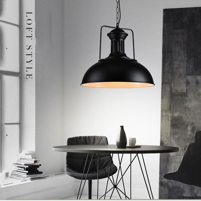Nordisk enkelt hoved vedhæng lampe dørlys, vintage jern lampe - Indendørs belysning - Foto 3
