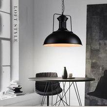 Nordic style single head pendant lamp droplight,vintage iron black  bedroom dining room cafe restaurant  retro loft lamp light