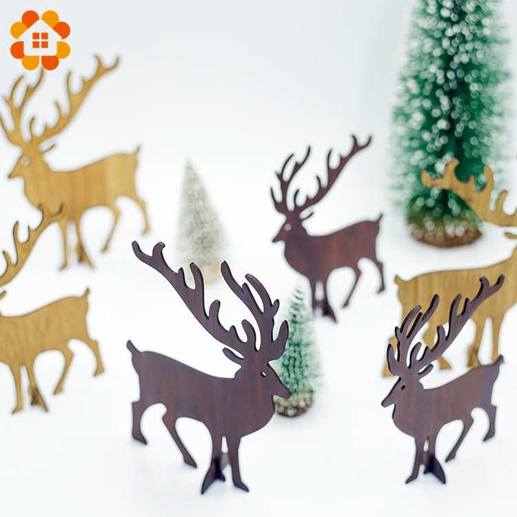 1PCS Weihnachten Hölzerne Hirsche Anhänger Ornamente DIY Ornamente Weihnachten Baum Ornamente Kid Geschenk Für Weihnachten Party Dekoration