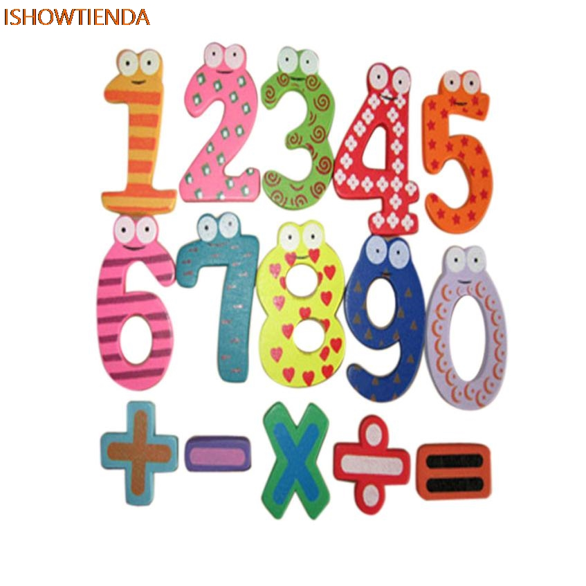 Magnetic Wooden Numbers Math Set Digital Baby Educational s