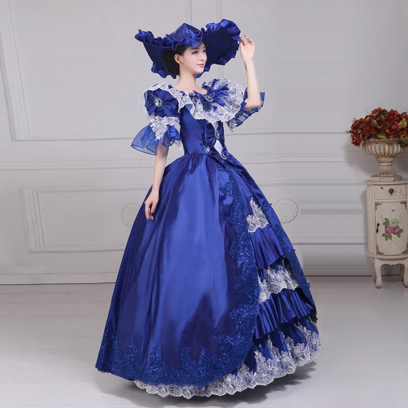 Royal Court Medieval Dress Queen Renaissance Ball Gown Victorian ...