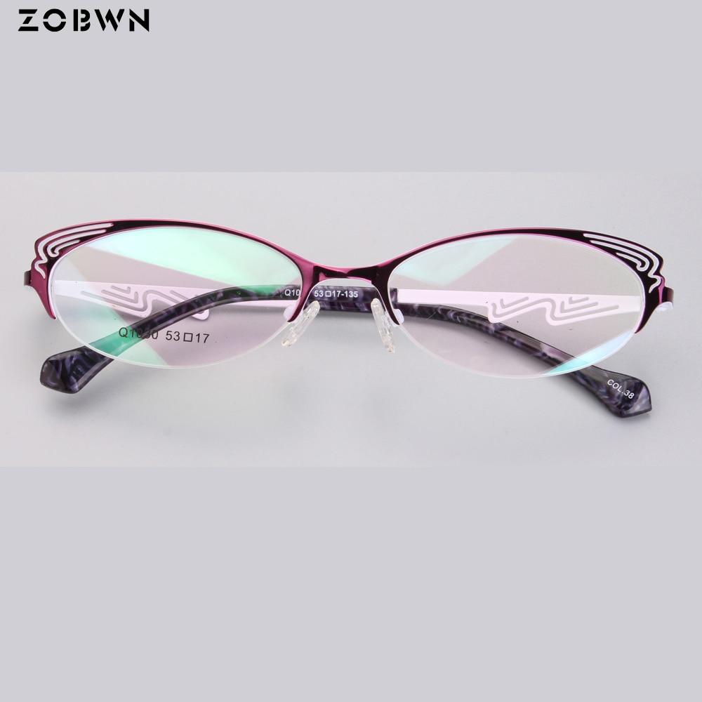 Fashion Optical Glasses Women Myopia Eyeglasses Lady Metal Spectacles Oculos De Grau Feminino Butterfly Shape Cat Gafa Red Black