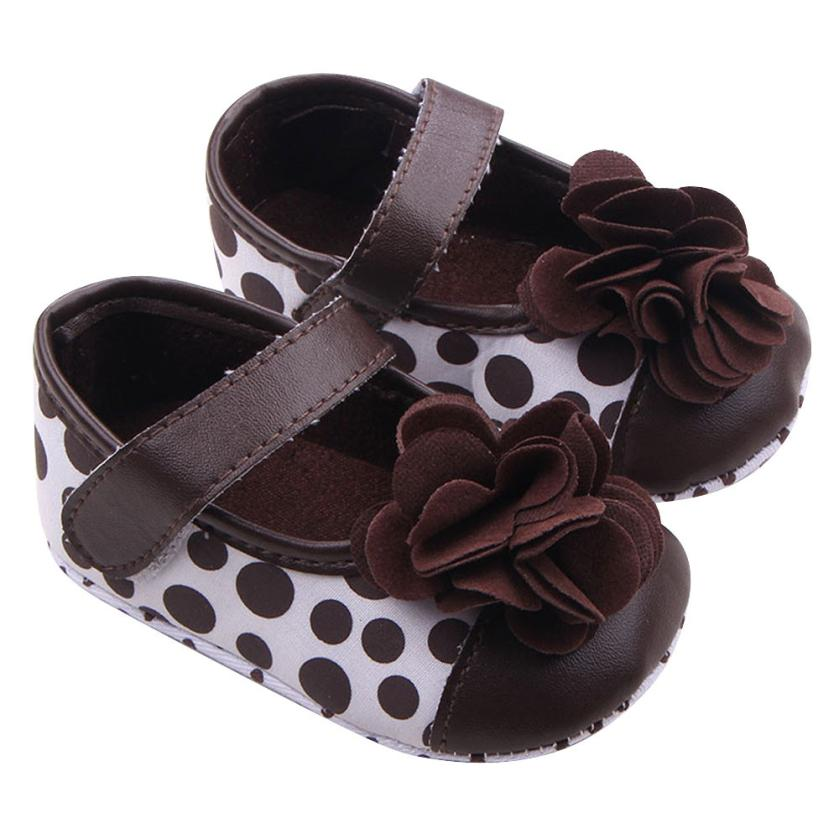 4a1929e8e Sapatos de bebê 2017 sapatas do miúdo crianças meninas da criança do bebê  sapatos de flores Dot kids first walkers sapatinhos de bebê chaussure fille
