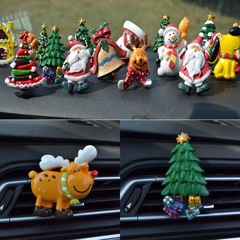 Us 3 84 23 Off Youwinme Xmas Tree Car Air Freshener Perfume Outlet Vent Clip Ornaments Christmas Gifts Decal Auto Vehicle Decoration Gift In