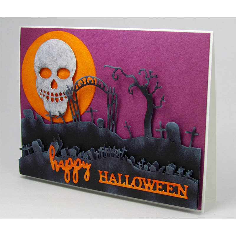 Halloween DIY Metal Cutting Dies Stencils Scrapbook Embossing Album Card Gift