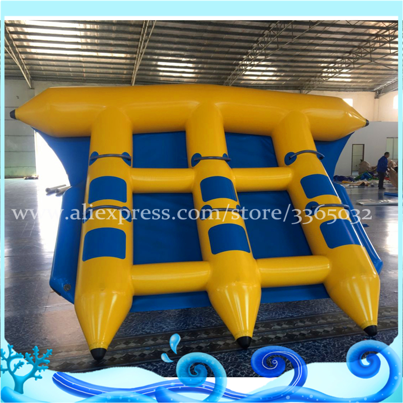 Guangzhou Flying Fish Inflatable Towable 6 Persons Fly Fish Banana Boat Water Sports Games single inflatable flying fish towable tube inflatable flyfish banana boat water fun toy