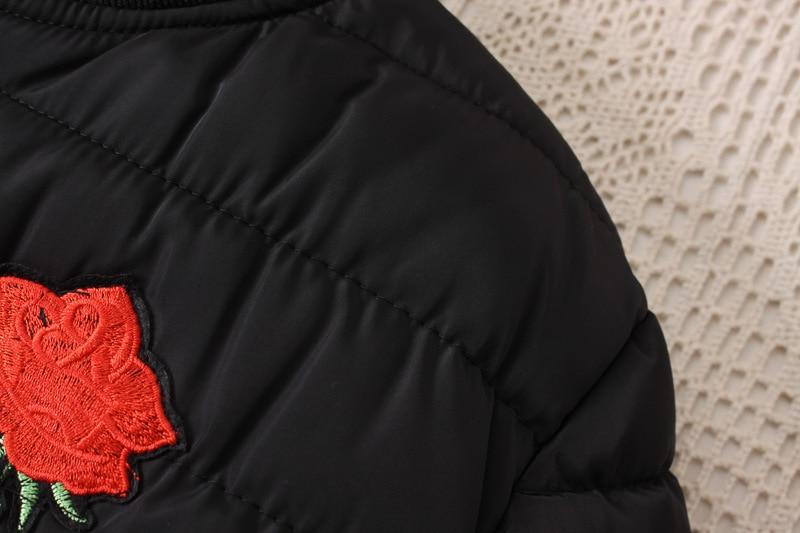 2019 зимняя куртка с хлопковой подкладкой, большие размеры 3XL 4XL, Женская куртка с цветочными нашивками, Женское зимнее пальто 5XL, Женская куртка бомбер, парки - 6