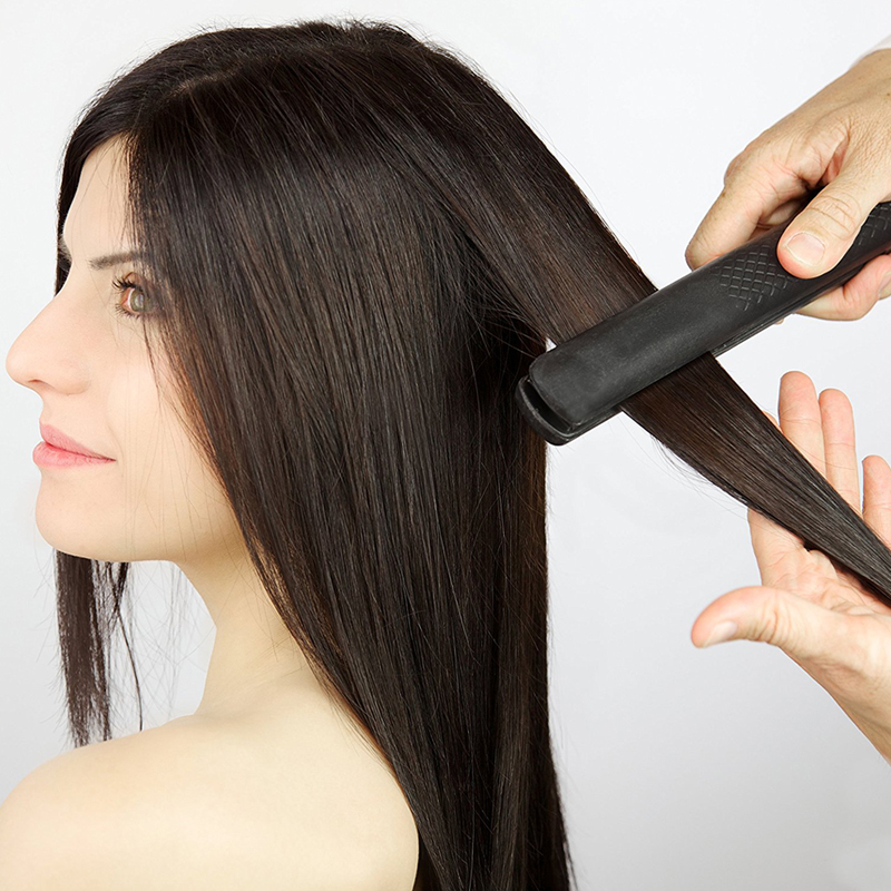 Hair Straightener Hair style tool Super Style Onyx Ceramic Flat Iron with Adjustable Temperature ...