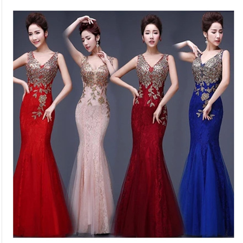 Toast Serving 2018 New Bride Tail Bud Silk Long Bridesmaid Dresses Mermaid Cultivate One's Morality Dress Party Aliexpress Uk