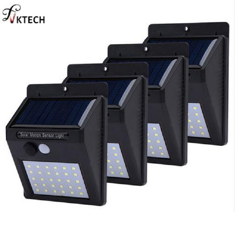 1-4 pcs 20/30 LED Solar Garden light Solar-powered Lamps Infrared Sensors Waterproof Outdoor Fence Pathway Wall Light TH4