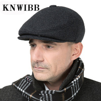 2017 Winter hats Woolen Cap Ear Protect Warm Men Hat Foldable Military Berets cap leisure thicken Soldier Cap touca