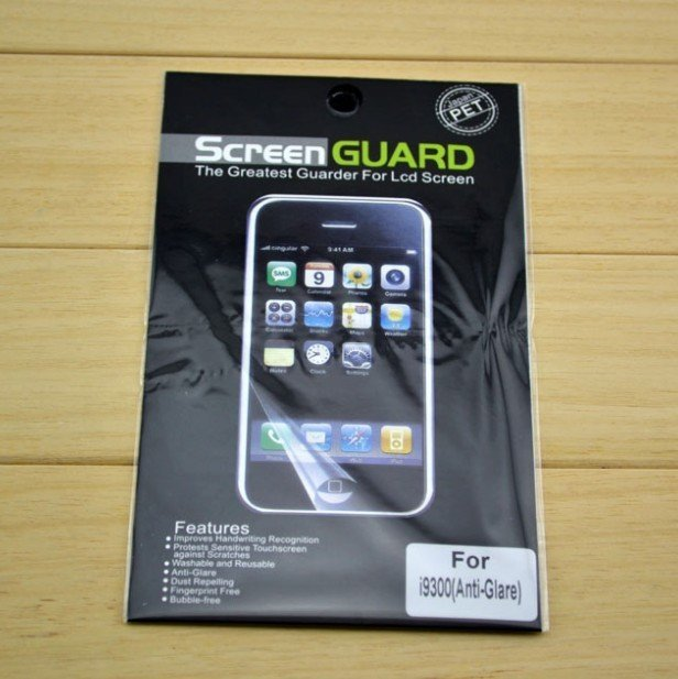 Free Shipping For Samsung Galaxy Siii i9300 Screen Protector Galaxy S3 Screen Protector with Retail Package