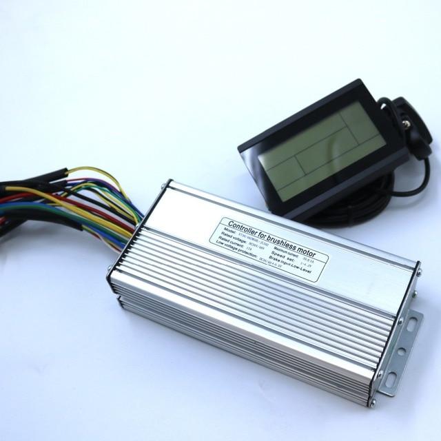 800W 1000W 35Amax 48V fırçasız DC Motor kontrolörü Ebike denetleyici + KT LCD3 ekran bir Set