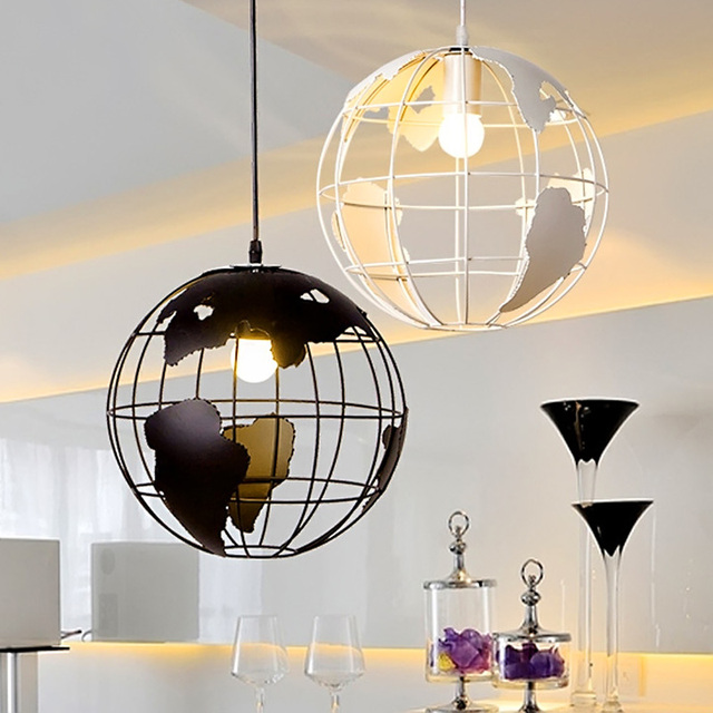 Earth globe lamp light iron pendant lamp light shade 2 color for earth globe lamp light iron pendant lamp light shade 2 color for kitchen island dining room mozeypictures Image collections