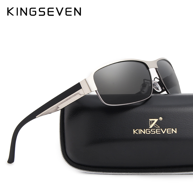 KINGSEVEN BRAND DESIGN Men Sunglasses Polarized Sun Glasses Mirror Lens Classic Vintage Male Shades Oculos De Sol UV400 N7359