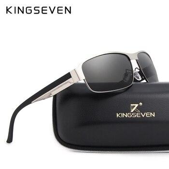 KINGSEVEN BRAND DESIGN Men Sunglasses Polarized Sun Glasses Mirror Lens Classic Vintage Male Shades Oculos de sol UV400 N7359 - discount item  51% OFF Eyewear & Accessories