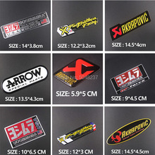 10 PCS FASP  Motorcycle Exhaust Pipes Aluminium Decal Sticker Cool Personality Scorpio For Yoshimura AKRAPOVIC