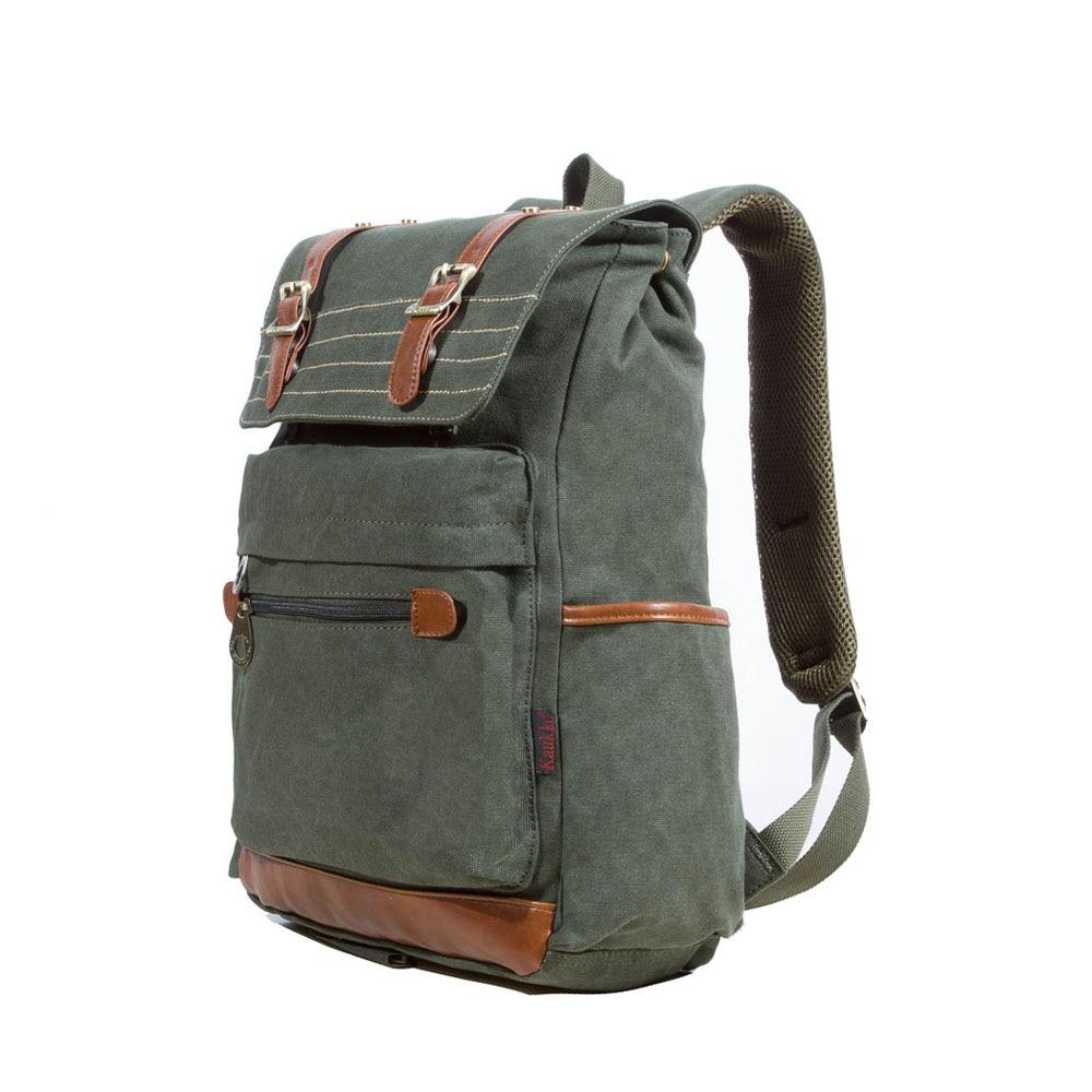 ФОТО Large Capacity Men Vintage Casual Travel Canvas Notebook Backpacks Practical School Rucksack College Travel Backpack