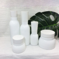 50g 40ml 120ml 150ml 150g White Ceramic Refillable Bottles Travel Pump Lotion Bottles Cosmetic Jars For