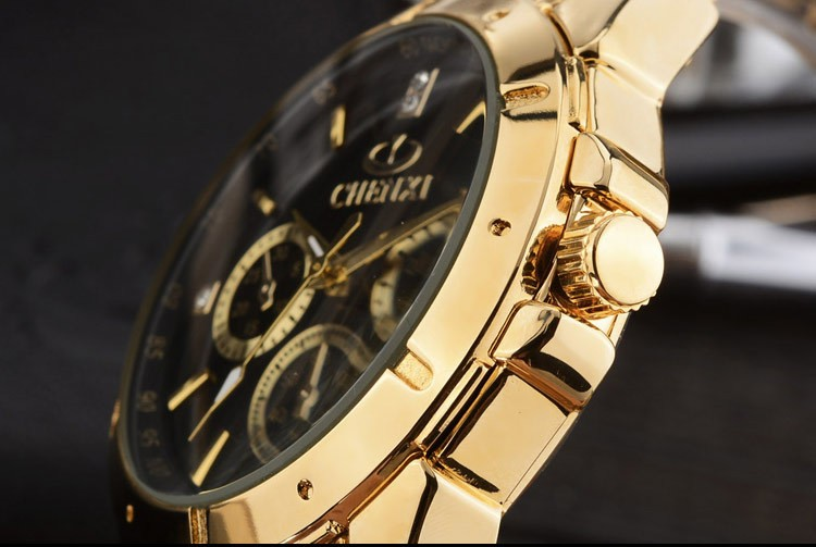 das mulheres relógios de pulso de ouro