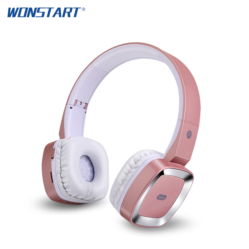 Wonstart Stereo Bluetooth Headphones Foldable Wireless Headset Headphone with MIC Support Handsfree Call fone de ouvido Over Ear