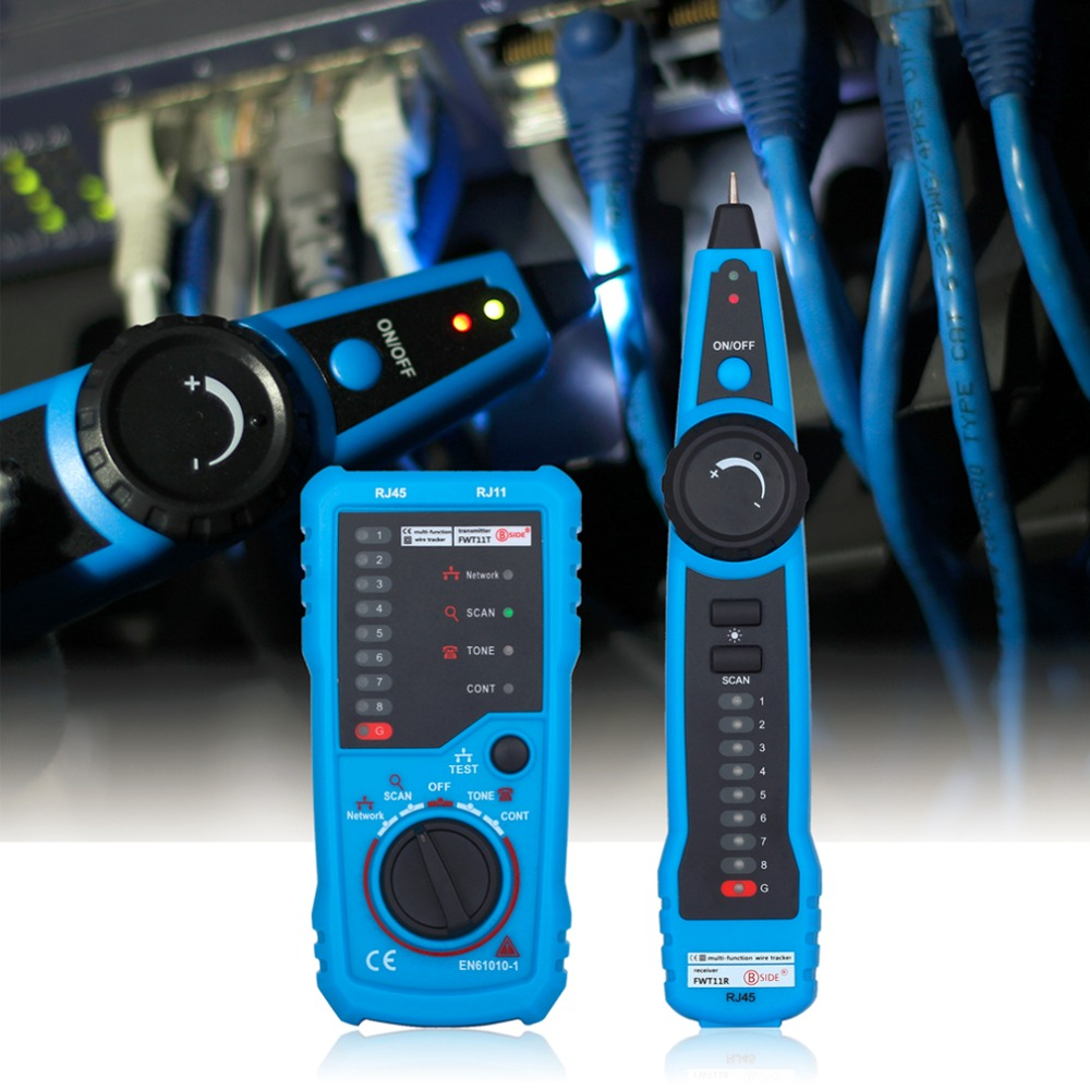 RJ45 Crimper LAN Tester Ethernet Detector Line Finder RJ11 Cat5 Cat6 LAN Network Cable Tester Telephone Wire Tracker Lan Test